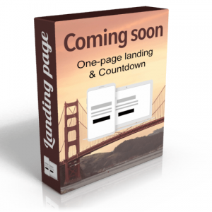 Coming soon - landing page HTML template