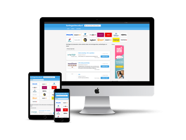 Kortingscodes website