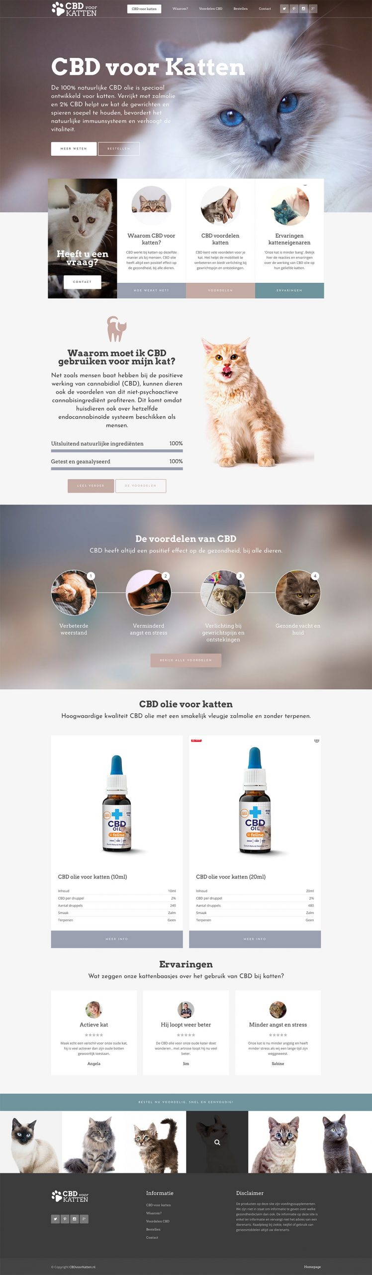 CBD voor katten website