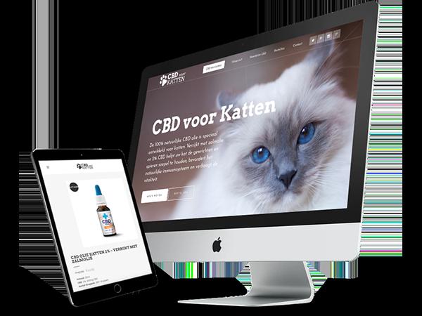 Design CBD voor katten webshop